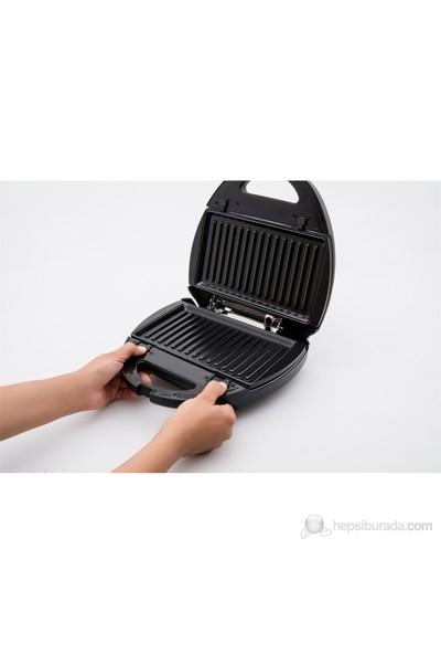 Homend 1307 ToastBuster 800 W Çıkarılabilir Plakalı Tost ve Waffle Makinesi