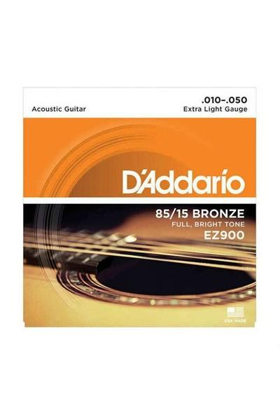 D'Addario EZ900 85/15 Bronze Akustik Gitar Teli (10-50)