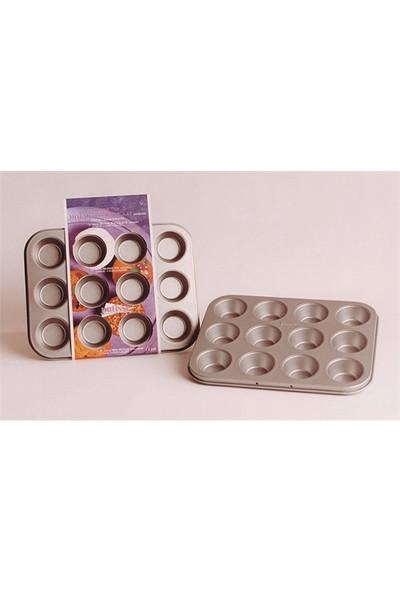 Patisse Mini 12'Li Muffin Kalıbı Silver 25 X 19