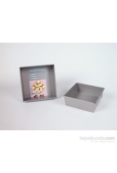 Patisse Silver Top Derin Kare Kek Kalıbı 23 Cm