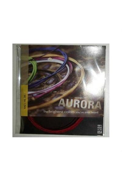İmecemuzik Kısa Sap Saz Teli Aurora Kırmızı Tel 018