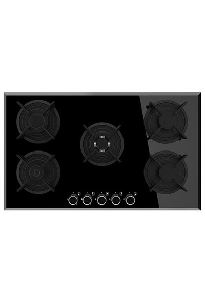 Termikel 17159 B905DW1 5 Gözü Gazlı Siyah Cam Ankastre Ocak