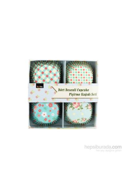 Tantitoni Dört Desenli Cupcake Pişirme Kağıdı Seti - 100'Lü