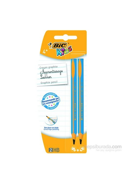 Bic Kids Evolution Üçgen Jumbo İlk Yazım Kalemi, 2'li Blister