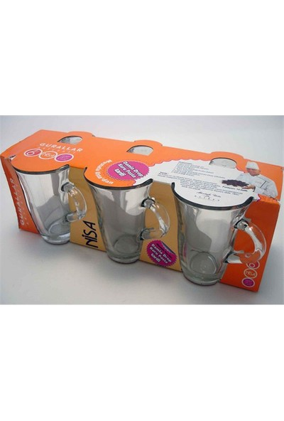 Lav Çay Bardağı Nisa Kulplu 6 Lı Nis407