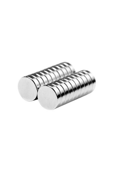 Neodyum Mıknatıs Silindir D8x2 mm (60'lı Paket)