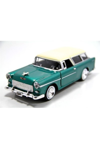 Motormax 1955 Chevy Bel Air Nomad -Yeşil 1:24 Model Araba