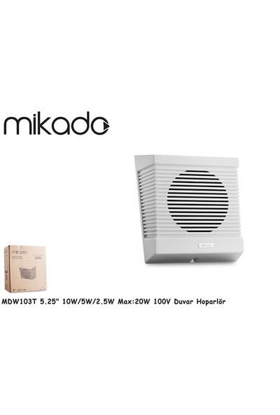 Mikado Mdw103t 5.25-13.3Cm 10W/5W/2.5W Max:20W 100V Duvar Hoparlör