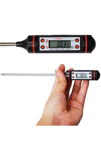 Qpars Dijital Termometre Mutfak Gıda Yiyecek Termometre Kelem Tip