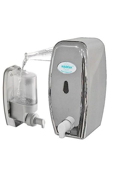 Rulopak Doldurmalı Köpük Sabun Dispenseri Metalik