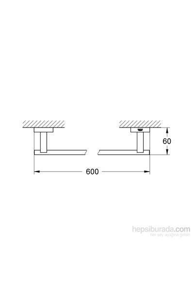 Grohe Eurocube Uzun Havluluk Banyo Aksesuarı - 40509001