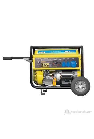 Aksa AAP-8000E Benzinli Monofaze Jeneratör 8kVA (4 Zamanlı Motor)