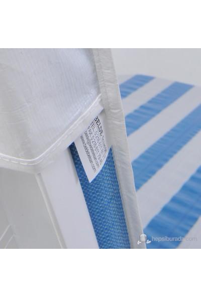 Belde Pilsa Şezlong Minderi - Mavi/Beyaz
