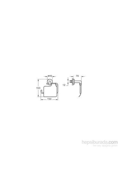 ArtemA A44788 Minimax Tuvalet Kağıtlığı, Krom