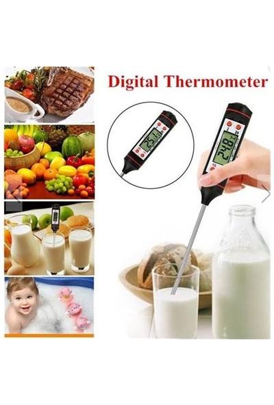 Tp Daldırma Saplama Tipi Dijital Gıda Sıcaklık Ölçer Termometre