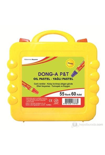 Dong-A 60 Adet 55 Renk Pastel Boya Plastik Çantalı