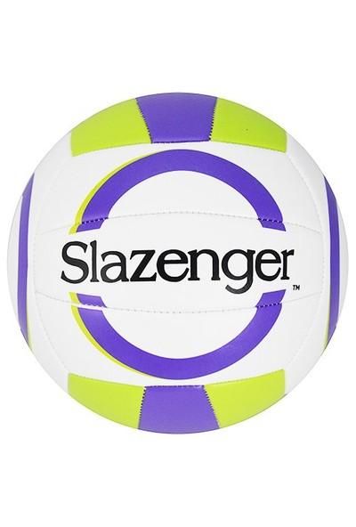 Slazenger 5 No Dikişli Voleybol Topu Mor Yeşil