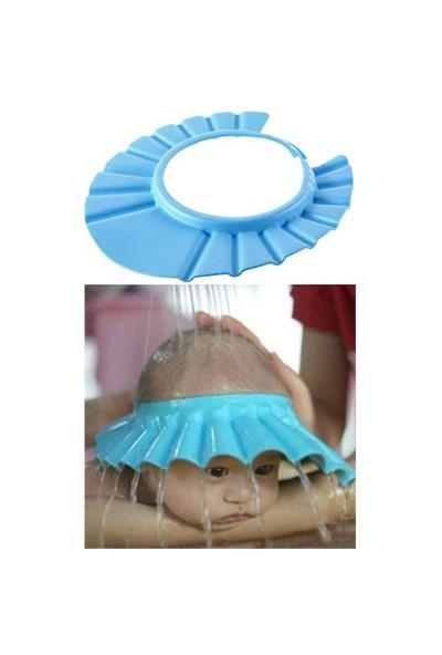 HomeCare Ayarlanabilir Bebek Banyo Şapkası Mavi 422296