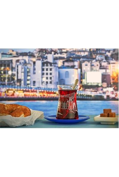 Paşabahçe Meet Me In İstanbul 4 Lü İstanbul Manzaraları Çay Takımı