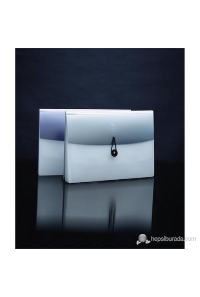 Shuter A4 Dosya Esnek 4 Gözlü Silver