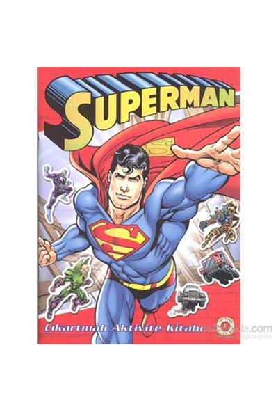 Superman - Çıkartmalı Aktivite Kitabı-Jerry Seigel