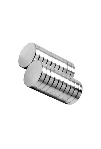 Neodyum Mıknatıs Silindir D15x3 mm (10'lu Paket)