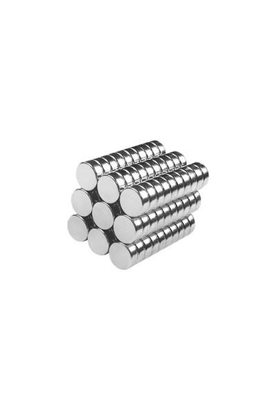 Neodyum Mıknatıs Silindir D5x2 mm (100'lü Paket)