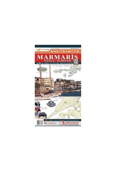 Touristmap Marmaris-Datça Harita, Plan ve Rehberi