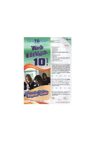 Testgrup 10. Sınıf Türk Edebiyatı Yaprak Test-Kolektif