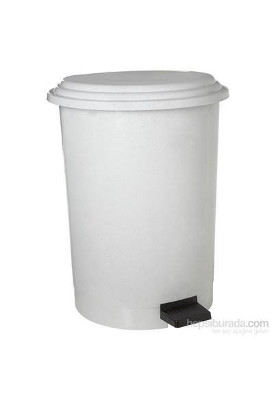 Dayco Plastik Pedallı Çöp Kovası 12 Lt Beyaz
