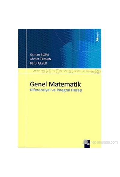 Genel Matematik Diferensiyel ve İntegral Hesap