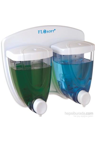 Flosoft F029 Sıvı Sabunluk İkiz 350+350 ML
