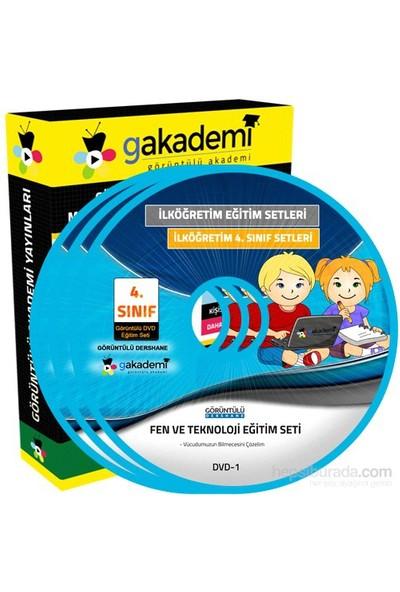 İlköğretim 4. Sınıf Fen ve Teknoloji Görüntülü Eğitim Seti 6 DVD