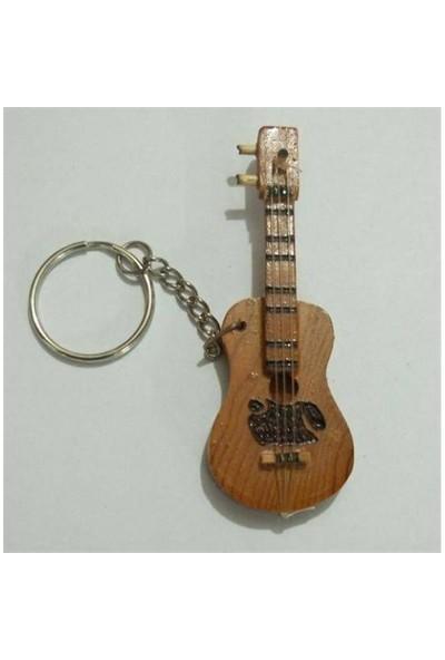 Anahtarlık Ahşap Klasik Gitar Şekilli A-Gk1