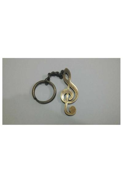 Anahtarlık Metal Sol Anahtarı Şeklinde