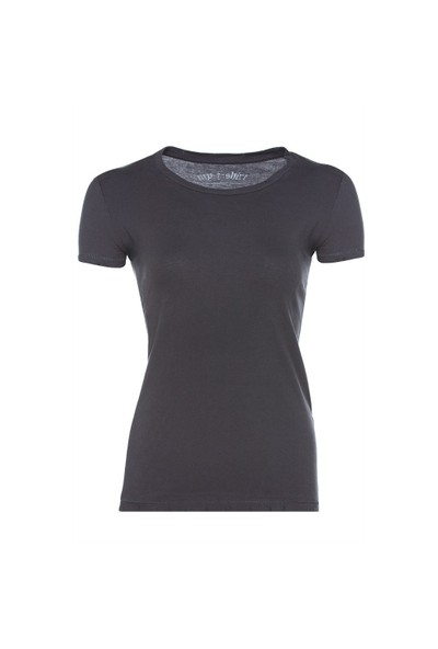 My T-Shirt Bisiklet Yaka Basic Kadın T-Shirt
