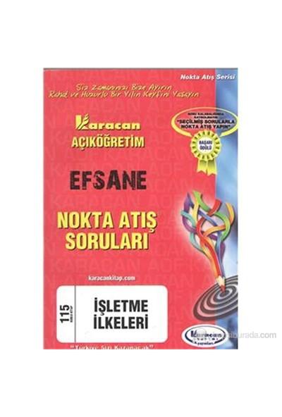 Karacan AÖF 2014 1.Sınıf İşletme İlkeleri Nokta Atış Soruları