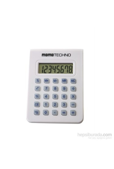 Momo Techno Gt118-Beyaz Hesap Makinesi