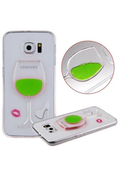 CoverZone Samsung Galaxy Grand Prime Kılıf Silikon Kadeh Model Yeşil