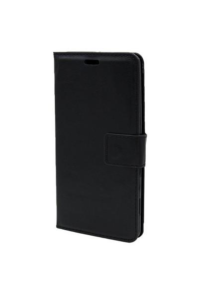 Kny Apple İphone 5-5S Cüzdanlı Kapaklı Kılıf Siyah+Cam
