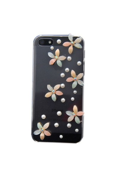 Resonare Apple iPhone 5 - 3D Mineli Pastel - Lady Line - Şeffaf Kapak