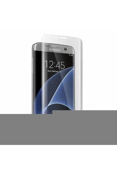 İdealtrend Samsung S7 Edge 3D Kavisli 9H Temperli Cam Ekran Koruyucu Şeffaf