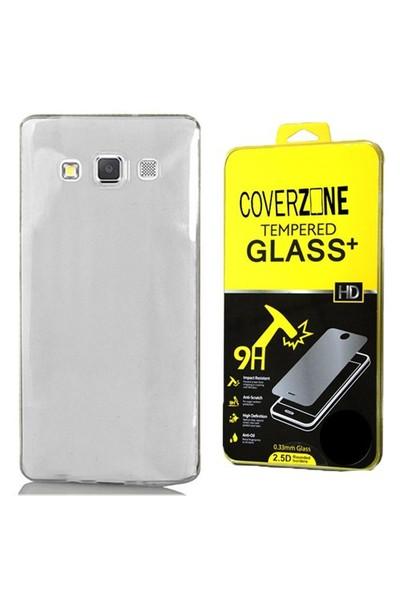Coverzone Samsung Galaxy J1 Kılıf Silikon 0.3Mm Şeffaf - Cam