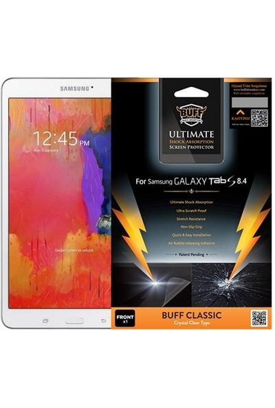 Buff Samsung Galaxy Tab S 8.4 Darbe Emici Ekran Koruyucu Film