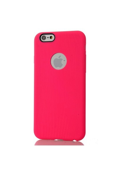 CoverZone İphone 6 Kılıf Silikon Line Model Tpu Pembe