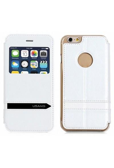 USAMS Apple iPhone 6 Kılıf Usams Merry Series Beyaz