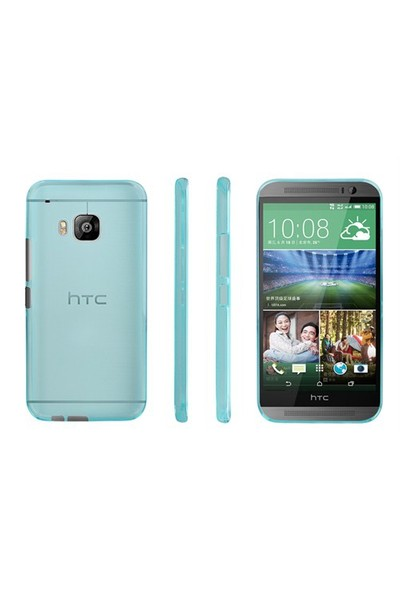 Microsonic Transparent Soft Htc One M9 Kılıf Mavi