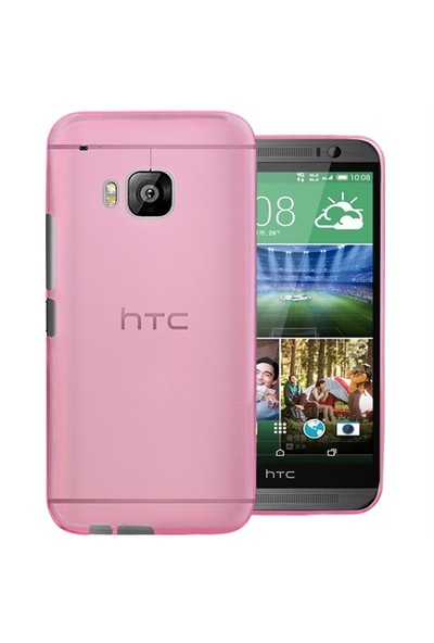 Microsonic Transparent Soft Htc One M9 Kılıf Pembe