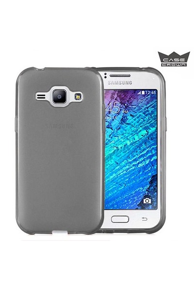 CaseCrown Samsung Galaxy J1 Ultra İnce Silikon Kılıf Füme