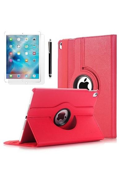 "Exclusive Phone Case Exclusive Phone Case iPad Pro 12.9"" Kılıf 360 Standlı Kırmızı+Film+Kalem"